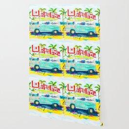 Lollapalooza Plaid Rad Beach Van Wallpaper