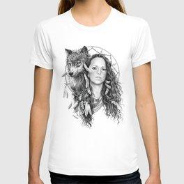 Heather / Black & white T-shirt