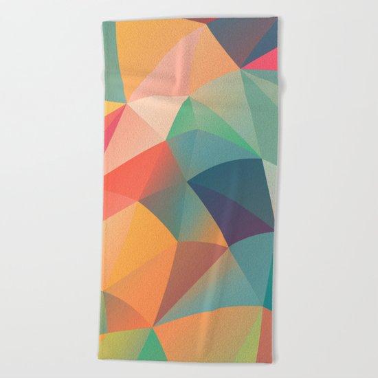 Geometric Wave Beach Towel