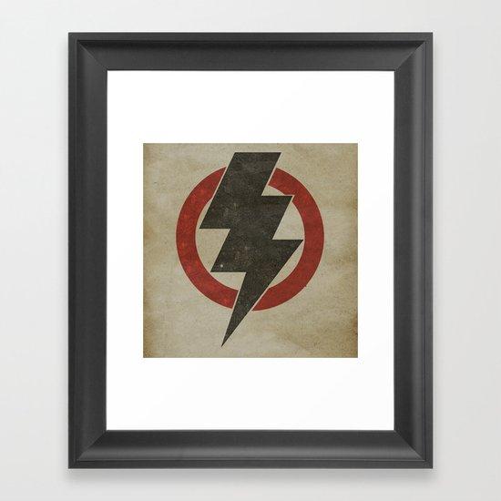 lightning strike zone Framed Art Print