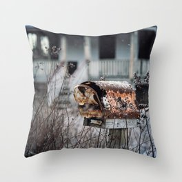 Mailbox of Rust Throw Pillow