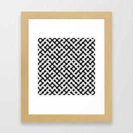 Black & White Truchet Tilling Mosaic Framed Art Print