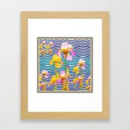 Colorful Iris Water Garden Art Pattern Framed Art Print