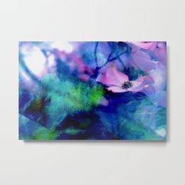 Paint, Petals & Branches Metal Print