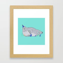 Party seal Framed Art Print
