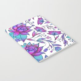 Unicorn Flowers Pattern Notebook