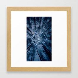EXO Blue Logo - EXODUS Framed Art Print