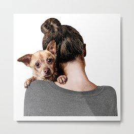 Rescue Puppy. Metal Print