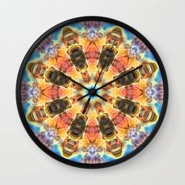Space Mandala no30 - Rainbow Space Nebula Wall Clock