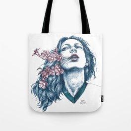 Wort-Blumen Tote Bag