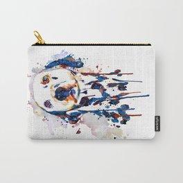 Dalmatian Head Watercolor Portrait Carry-All Pouch
