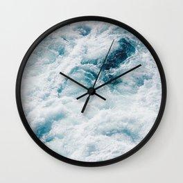 sea - midnight blue storm Wall Clock