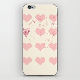 The Prettiest Heart iPhone Skin