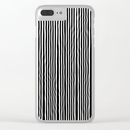 Op-Art Black and White Tribal Wiggle Stripe Clear iPhone Case