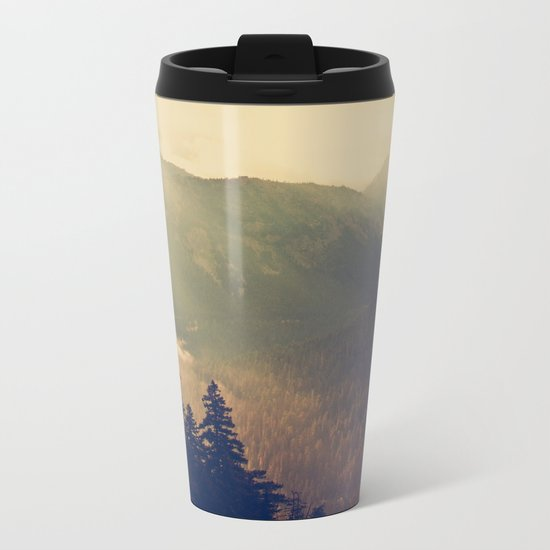 Sunrise over the Mountians Metal Travel Mug