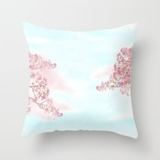 A day for cherry blossom | Miharu Shirahata Throw Pillow