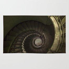 Dark moody spiral staircase Rug