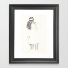 No.6 Fashion Illustration Series Framed Art Print