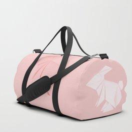 Pink origami bunny Duffle Bag