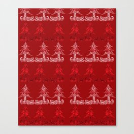 Stylized christmas tree Canvas Print