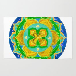 Opening the Heart Mandala Rug
