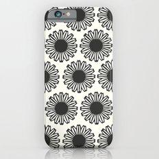 vintage flowers black Slim Case iPhone 6s