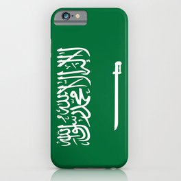 National flag of  the Kingdom of Saudi Arabia - Authentic version to scale and color iPhone Case