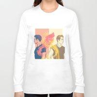 stiles Long Sleeve T-shirts featuring derek and stiles by steammmpunk