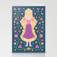 rapunzel Stationery Cards featuring Rapunzel by Carly Watts