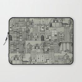 dystopian toile mono Laptop Sleeve