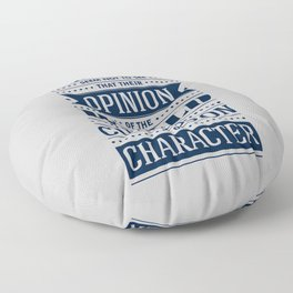 Lab No. 4 People Seem Not to Ralph Waldo Emerson Inspirational Quote Floor Pillow