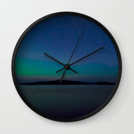 Blue Island Skies Wall Clock