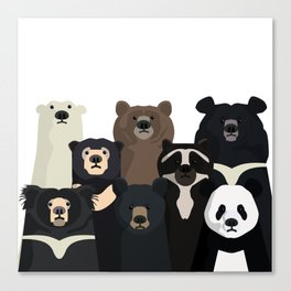 Bear family portrait Canvas Print