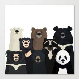 Bear family portrait Canvas Print