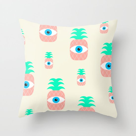 P[eye]NEAPPLES Throw Pillow
