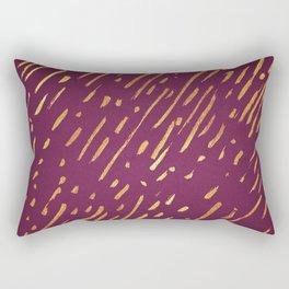 Fuchsia Golden Stripes Rectangular Pillow