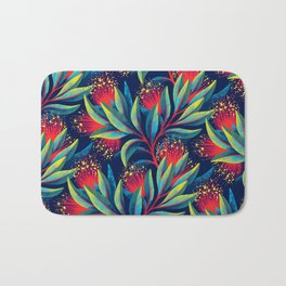 Pohutukawa - Red / Green Bath Mat