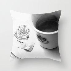 Coffee in Venice Throw Pillow