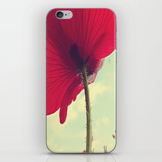 Red Poppy, Blue Sky iPhone & iPod Skin