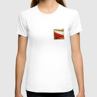 poland T-shirts featuring STICKER OF POLAND flag by Lulla