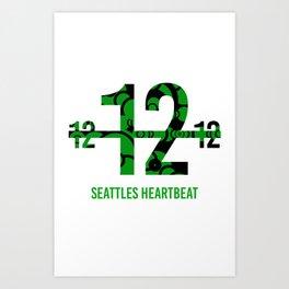 Seattle's Heart beat Art Print