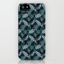 Blue Messy Leaves #society6 #decor #buyart iPhone Case