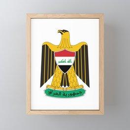 Coat of Arms of Iraq  Framed Mini Art Print