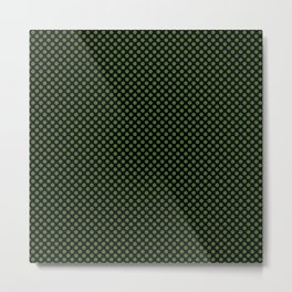 Black and Treetop Polka Dots Metal Print