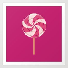 Pink Lollipop Art Print