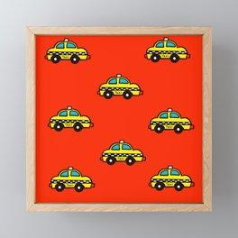 NYC Taxi Cabs Framed Mini Art Print