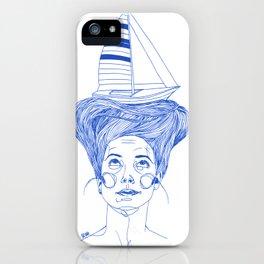 Hairsea blue iPhone Case