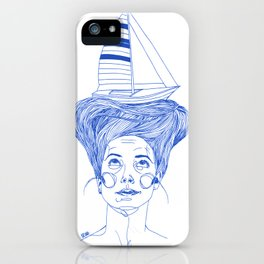 Hairsea blue iPhone Case