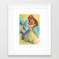 david tennant Framed Art Prints featuring Tennant by Liz O'Connor
