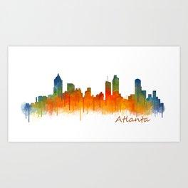 Atlanta City Skyline Hq v2 Art Print